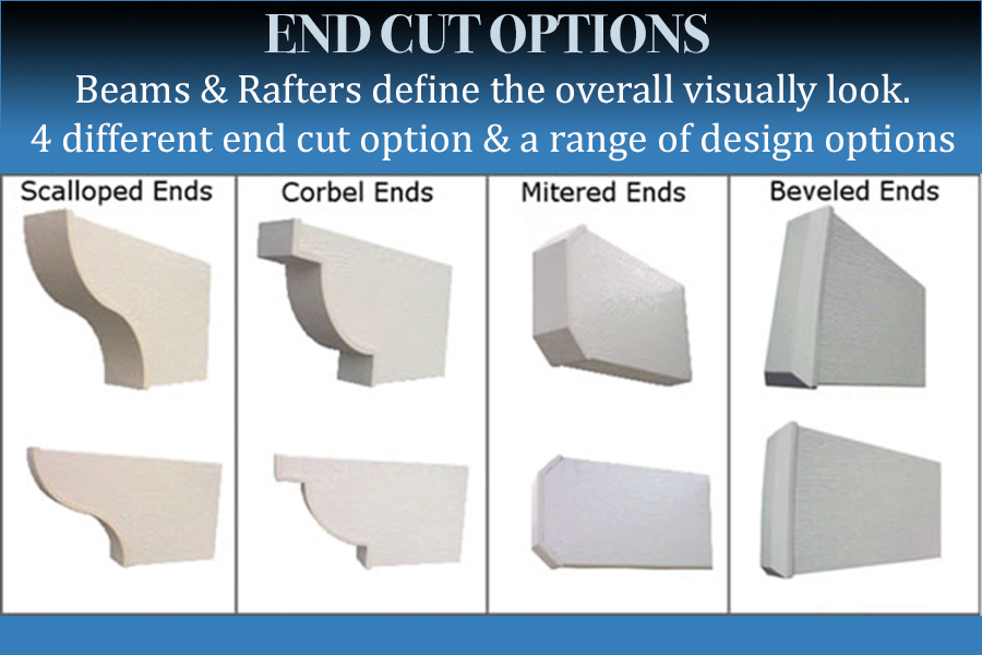 End Cut Options Patio covers and Awnings Houston