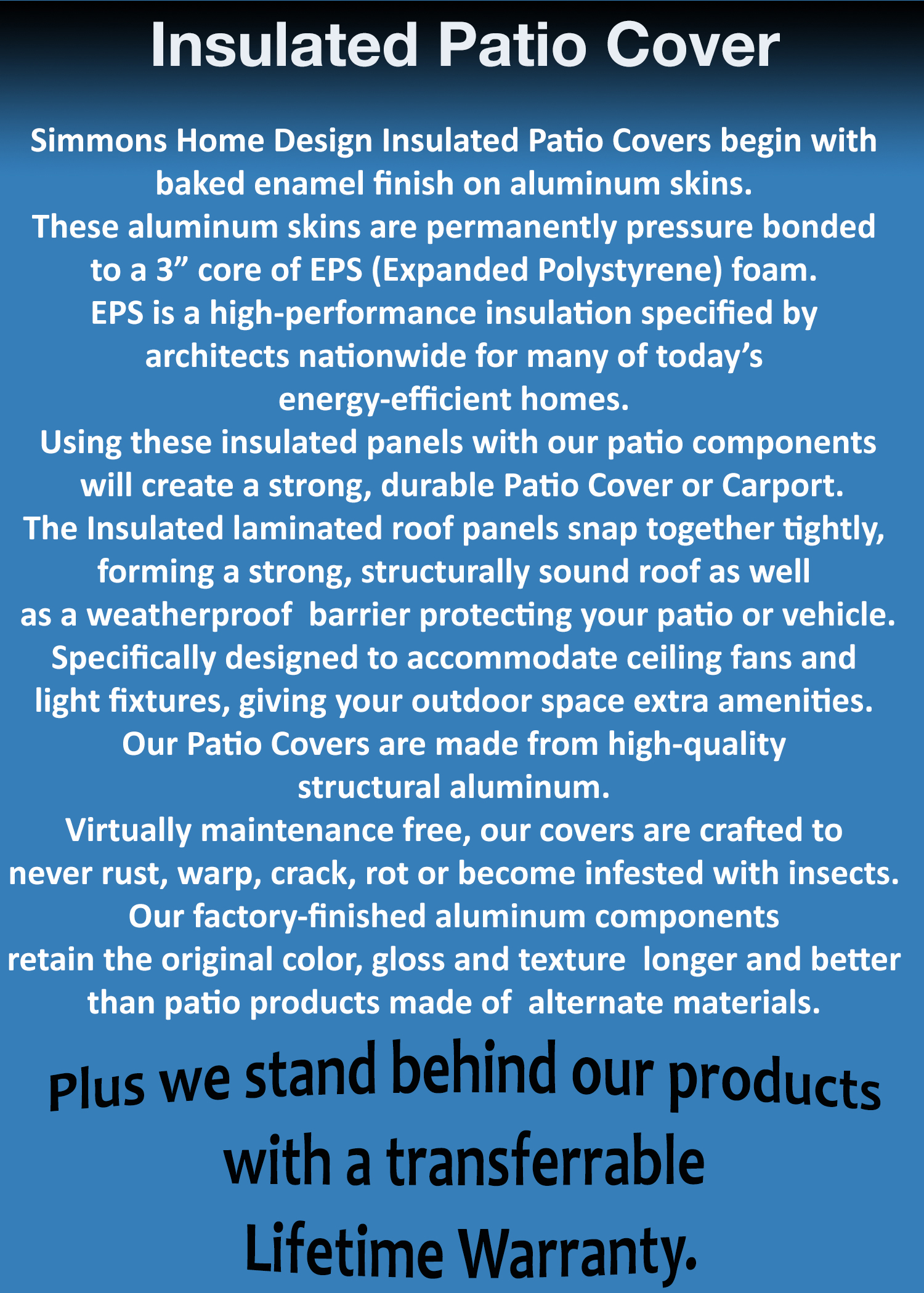 About our Insulated Patio Covers