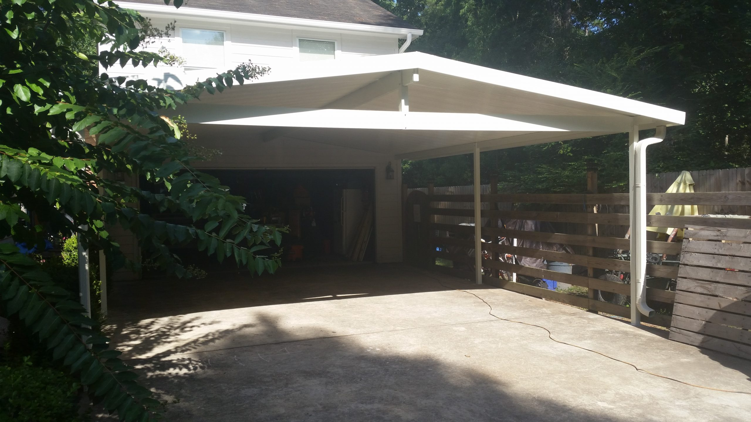 Arched Carport Cover in white