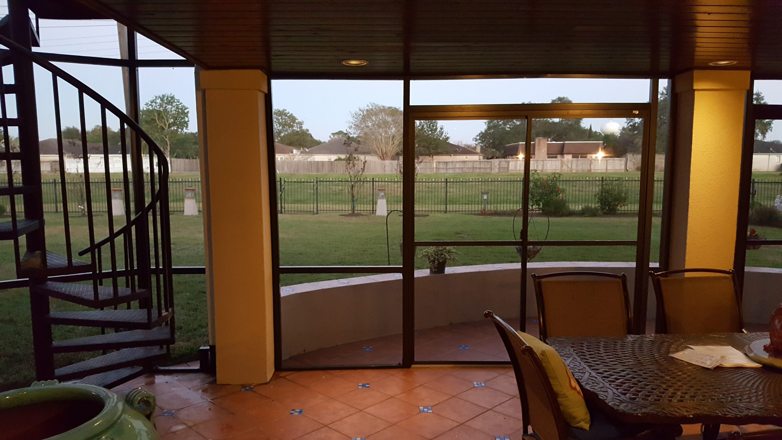 Patio Screen Enclosure looking out