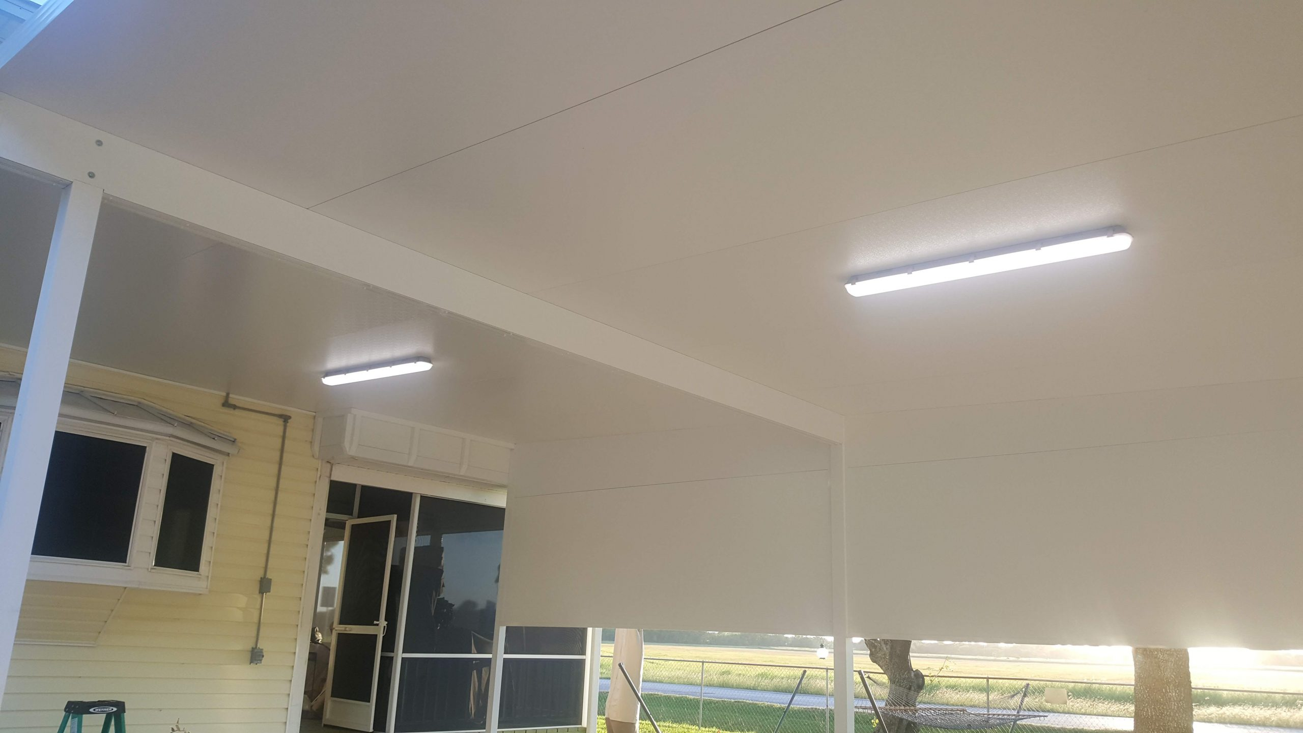 Partial Enclosed Carport cover with lighting Pearland, TX