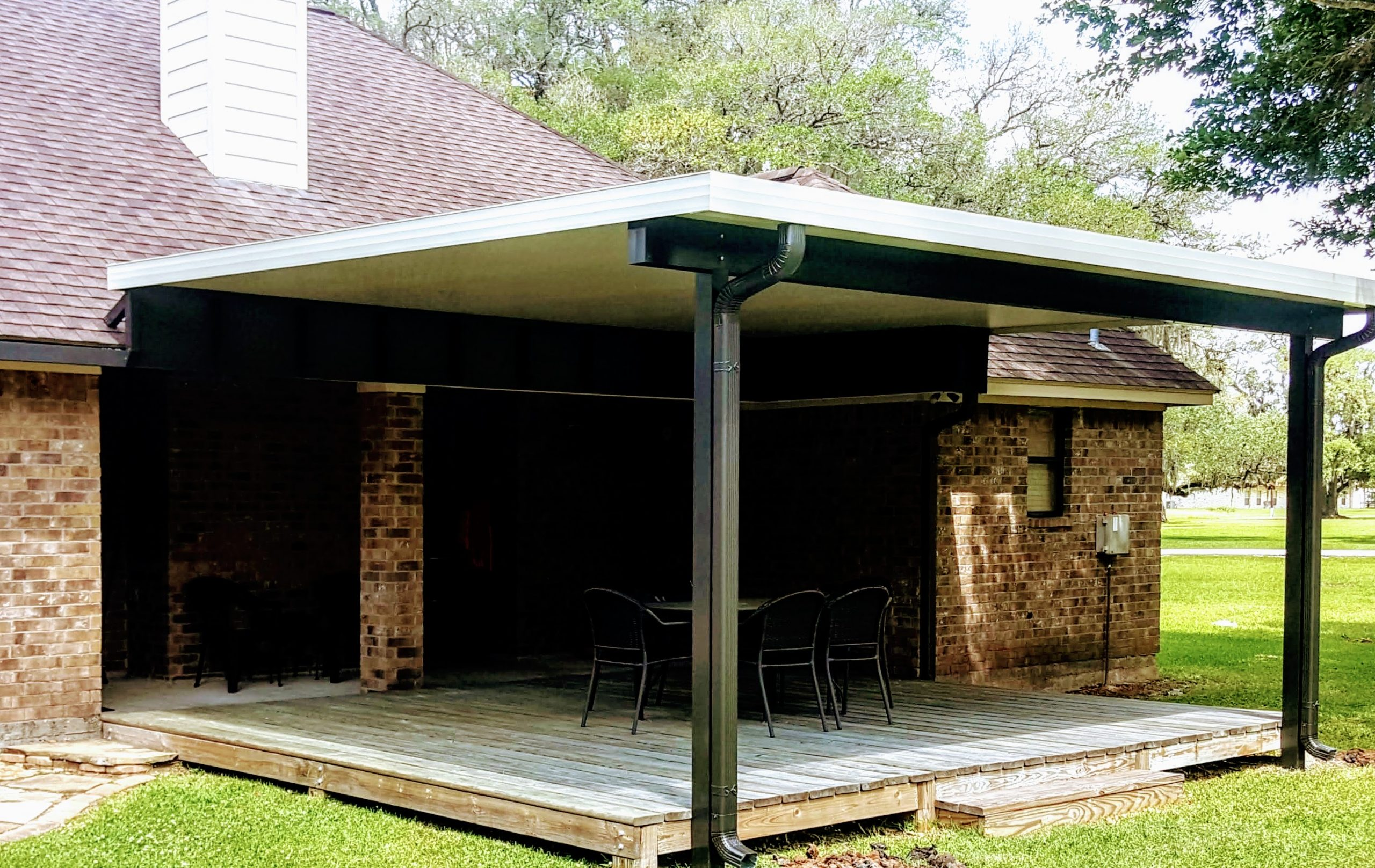 Bronze Patio Cover Post and Bean League City, TX