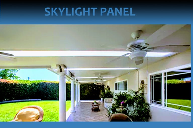 Skylights in Patio cover